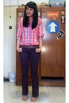 melawai blouse - melawai jeans - thrfited belt