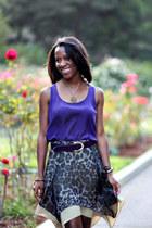 purple Mossimo top - charcoal gray Sugarlips skirt - deep purple thrifted belt