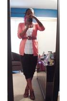 JCrew sweater - Urban Outfitters skirt - thrifted belt - Express pants - Jessica