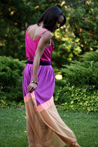 amethyst Sway Chic skirt - deep purple thrifted belt - hot pink Mossimo top
