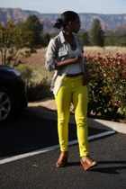 silver Old Navy blouse - yellow Gap jeans - white Topshop shirt