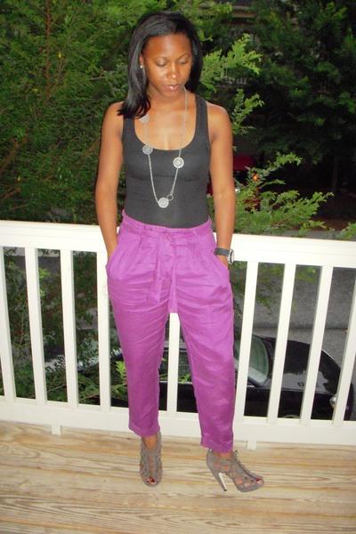 Target shirt - Target necklace - Zara pants - Dolce Vita shoes