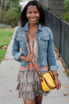 blue Free Style Revolution jacket - brown Steve Madden shoes