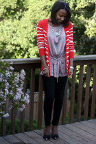 red Old Navy sweater - silver Fabrik blouse - black Urban Outfitters pants