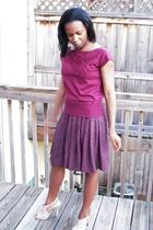 Bandolino shirt - thrifted skirt - Steve Madden shoes