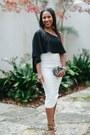 Black-halo-dress-white-christian-louboutin-heels