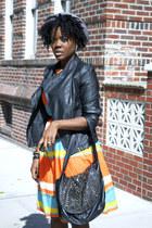 f21 jacket - asos dress - Nine West bag
