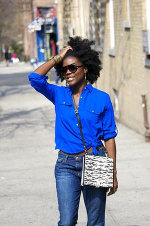 Zara shirt - Joes Jean jeans - Zara bag