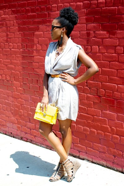 asos bag - Zara dress - H&M sandals - Forever 21 earrings