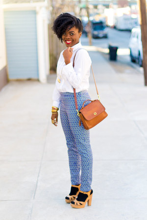 Gap shirt - coach bag - H&M pants - Target sandals