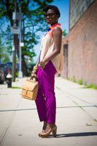 Vince Camuto sandals - coach bag - Zara pants - necessary clothing top