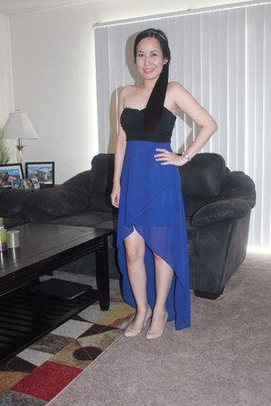high-low windsor dress - nude Steve Madden heels