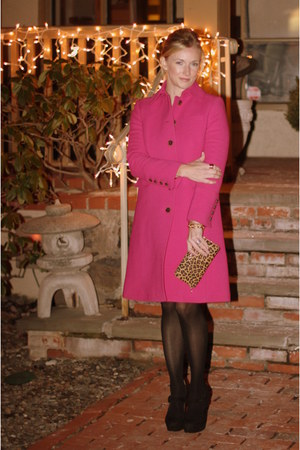 JCrew coat - Gap dress - CWonder bag - banana republic ring - Nine West heels