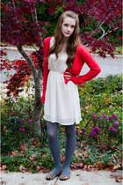 neutral xhilaration dress - red H&M cardigan