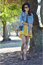 Mustard-one-teaspoon-dress-blue-distressed-jean-front-row-shop-jacket
