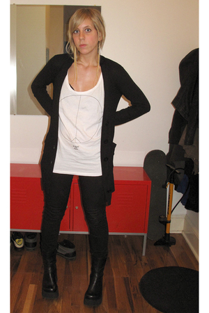 Cheap Monday top - lux uo sweater - Ksubi jeans - Steve Madden shoes