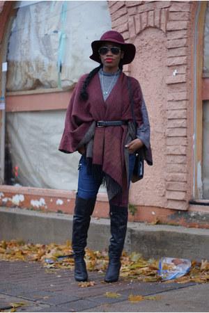 Zara boots - H&M hat