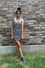 Navy-envy-me-dress-carrot-orange-target-bag-magenta-aldo-sandals