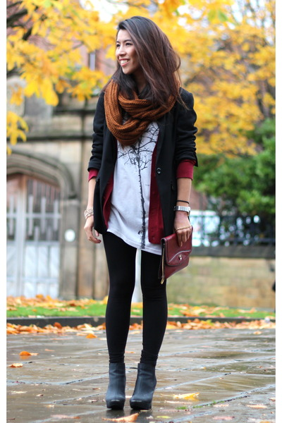 Primark scarf - new look boots - Forever 21 cardigan