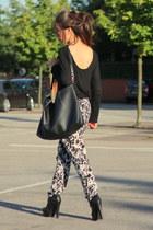 Primark pants - Zara top - asos heels