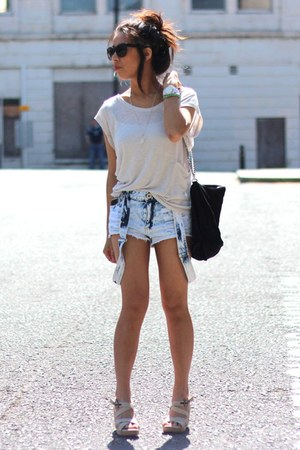 Zara bag - new look shorts - Vero Moda top