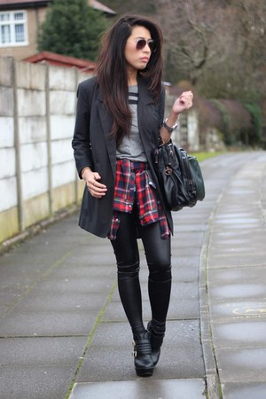 asos top - asos shoes - asos leggings - asos blazer - asos shirt - asos bag