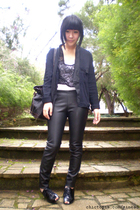jacket - Dotti - bardot pants - shoes - accessories
