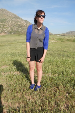 blue Nordstroms cardigan - black Nordstroms shorts