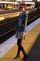 Kate Moss for Topshop dress - sass & bide blazer - metalicus stockings - thrifte