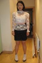 vintage blouse - Urban Outfitters vest - vintage belt - i heart norwegian wood s