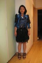 vintage blazer - Primark dress - H&M dress - asos skirt - Ravel shoes