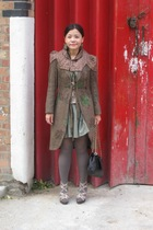 random from Hong Kong coat - Bolongaro Trevor jacket - asos dress - Oasis blouse