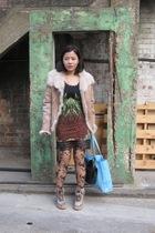joseph coat - Siren dress - asos skirt - H&M tights - Emma Cook for Topshop shoe