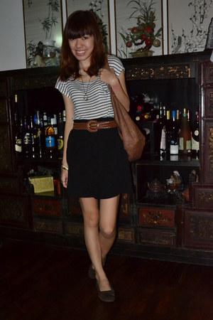 striped Forever 21 t-shirt - cotton on skirt
