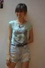 Aquamarine-roxy-shirt-light-blue-bangkok-shorts-black-deeper-and-harder-belt