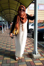 Off-white-slip-dress-dress-tawny-pashmina-scarf-black-cotton-on-cardigan