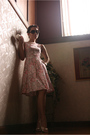 Pink-gingersnaps-dress-white-charles-and-keith-shoes