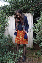lace-up Chelsea Crew boots - pumpkin pie Spotted Moth dress - American Eagle jac