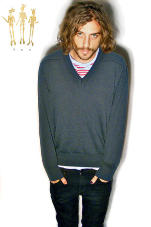 black skinny leg Lee jeans - aquamarine cotton Country Road t-shirt - teal austr