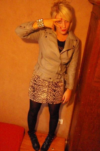 Topshop jacket - casseste society skirt - bracelet - payless
