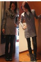 Miss Sixty blouse - leggings - Calzedonia panties - Skechers shoes