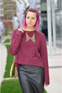 Gold-tiramisu-alle-fragole-necklace-magenta-h-m-boots