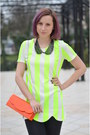 Chartreuse-neon-nowistyle-shirt-gray-random-shoes