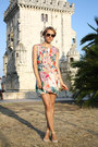 Light-orange-floral-h-m-dress-light-brown-h-m-sunglasses