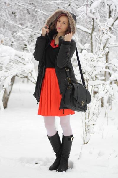 black parka nowIStyle jacket - black nowIStyle sweater