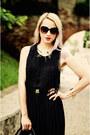 Black-nowistyle-bag-black-h-m-sunglasses-black-pleated-thrifted-skirt