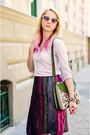 Eggshell-bershka-shirt-green-floral-tapestry-thrifted-vintage-bag