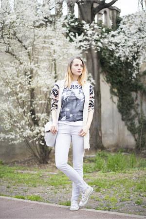 silver Zara jeans