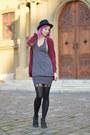 Black-studded-random-boots-heather-gray-mango-dress-black-mens-random-hat
