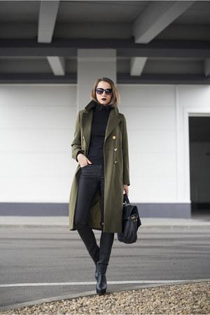 army green Woman Fashion coat